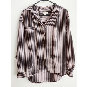 Silence and noise striped button down small